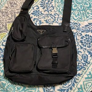 Prada crossbody nylon messenger bag